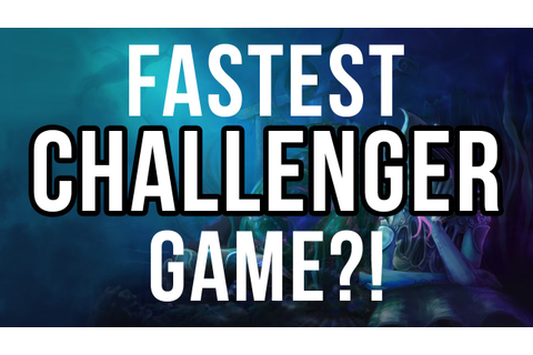 Bjergsen - Fastest challenger game ever?! - YouTube