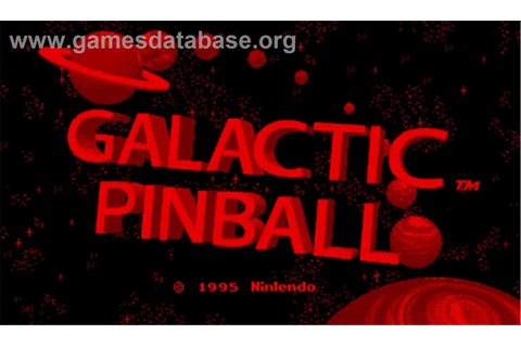 Galactic Pinball - Nintendo Virtual Boy - Games Database
