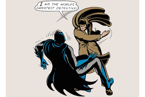 Batman gets Super-Slapped by Sherlock Holmes in Amusing ...