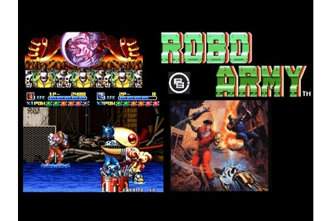 Arcade Game Test : Robo Army NEO GEO - YouTube