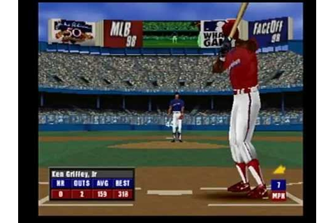 MLB 98 Ken Griffey Jr home run derby at Tiger Stadium ...