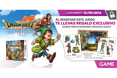 Dragon Quest VII para 3DS - Regalo de reserva en GAME ...
