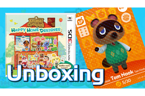 Animal Crossing (Unboxing) Happy Home Designer 3DS Game ...