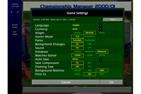 Download Championship Manager: Season 00/01 - My Abandonware