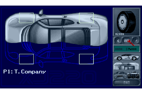 Jaguar XJ220 : The Company - Classic Amiga Games