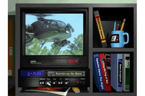 Jane's AH-64D Longbow Gold - Base Walk Around DosBox - YouTube