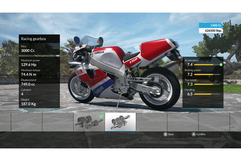 Purchasing a bike and upgrading it in the RIDE videogame ...