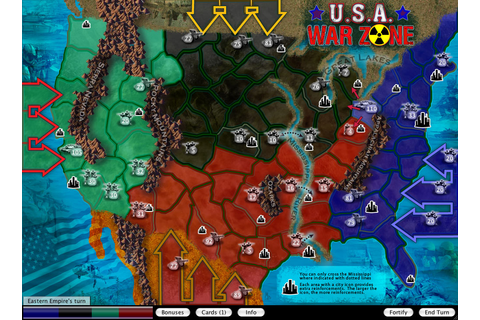 U.S.A. War Zone Map