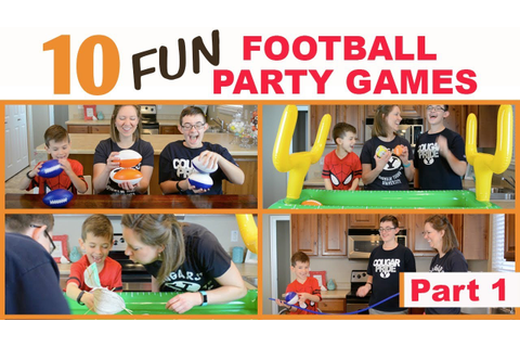 10 Best Football Party Games (Part 1) | Family Fun Every ...