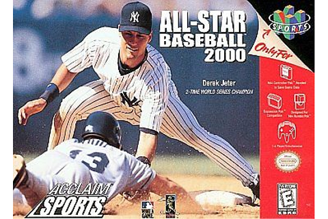 ALL-STAR BASEBALL 2000 GAME NINTENDO SYSTEM N 64 N64 NES ...