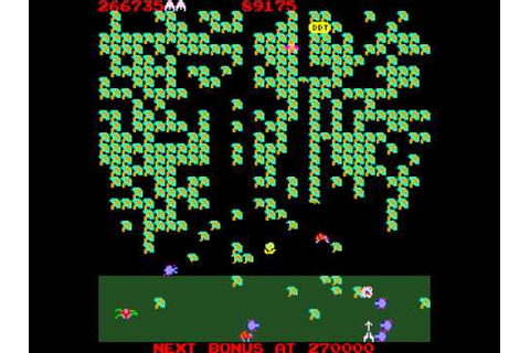 Arcade Game: Millipede (1982 Atari) - YouTube