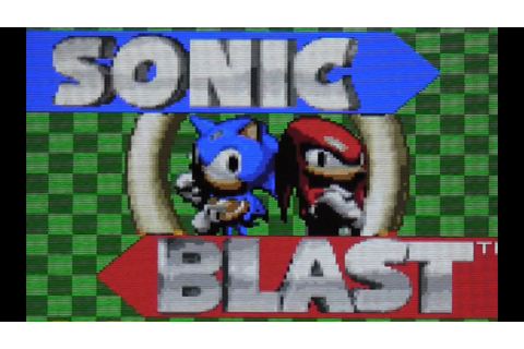 CGR Undertow - SONIC BLAST review for Game Gear - YouTube