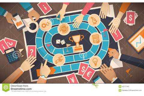 Business And Competition Board Game Stock Vector - Image ...