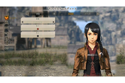 Attack on Titan 2 CHARACTER CREATION Gameplay with BOSS ...