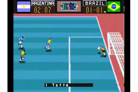 CAPCOM Soccer Shootout - Snes Game - Brasil 1 Argentina 2 ...