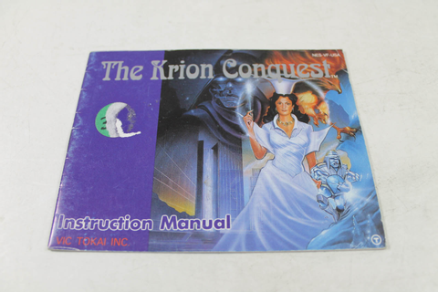 Manual - The Krion Conquest - Rare Nes Nintendo