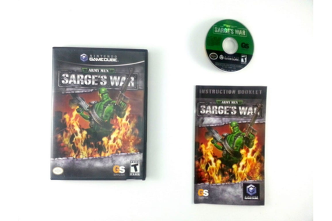 Army Men Sarge's War game for Gamecube (Complete) | The ...