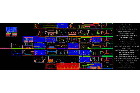 ZX-Spectrum Games - Technician Ted - mapa