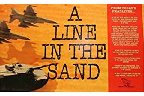Amazon.com: A Line in the Sand -Rare 1991 Risk-Style Board ...