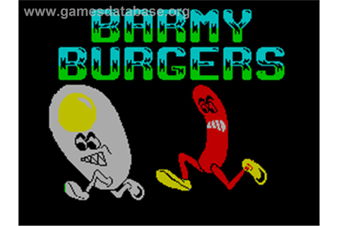 Barmy Burgers - Sinclair ZX Spectrum - Games Database