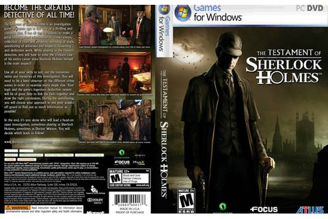 The Testament of Sherlock Holmes Game Free Download - Free PC Games ...