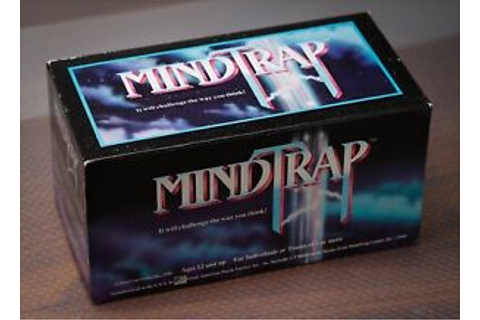 Mindtrap Game Original First Edition 1991 Vintage Family ...