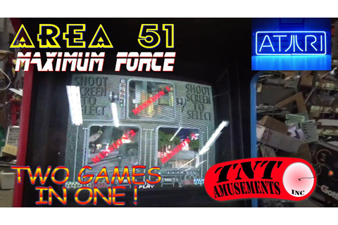 #860 Atari AREA 51 MAXIMUM FORCE Combo Arcade Video Game ...