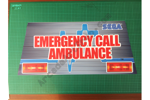 Emergency-call-ambulance-marquee - Arcade Art Shop