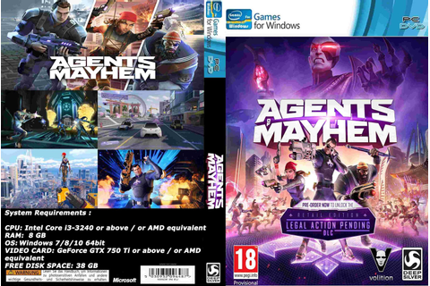 Base Um Gtba: Agents Of Mayhem (2017) - Capa Game PC