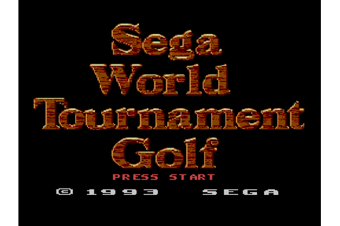 Sega World Tournament Golf Download Game | GameFabrique