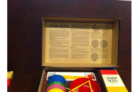 Chop Suey Vintage Ideal Board Game circa 1967 complete in box