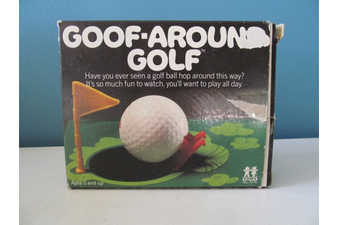 Vintage / Retro 1980 Goof-Around Golf Game By Tomy Toy