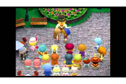 Harvest Moon DS Grand Bazaar - get married to Freya - YouTube