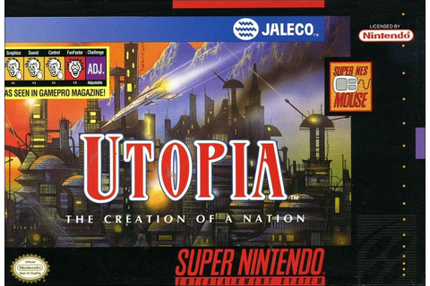 Utopia Creation of a Nation SNES Super Nintendo