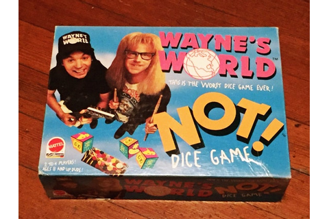 Vintage Waynes World Dice Game Retro Complete 1992 Board Game