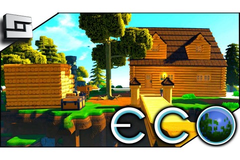 Colonial Starter House! ECO Gameplay - Survival Building ...