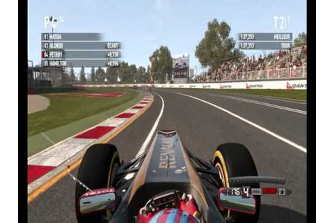 F1 2011 PC-DVD game on Melbourne with Petrov on Lotus ...