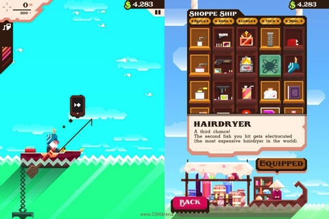 'Ridiculous Fishing' for iOS game review