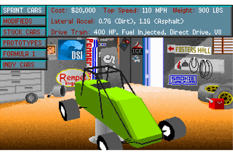 PC Retro Games: Mario Andretti's Racing Challenge (1991)