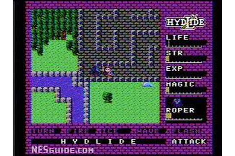 Hydlide - NES Gameplay - YouTube