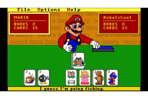 Marios Game Gallery go fish - YouTube