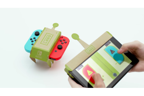 Nintendo unveils 'Labo,' a $69 cardboard game controller ...