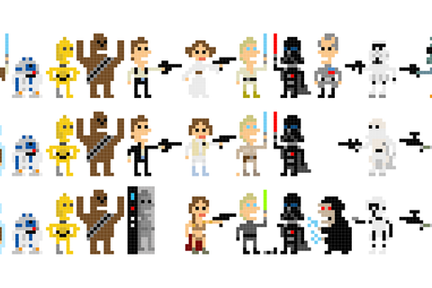 The Star Wars Pixel Art Collection by Andy Rash | Minecraft Pixel Art ...