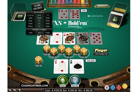 Free Texas Hold-Em Poker Game Online