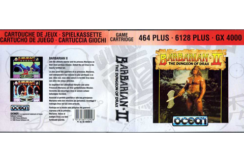Barbarian II: The Dungeon Of Drax | Top 80's Games
