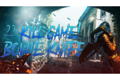 22 KILL GAME WITH A BOWIE KNIFE ON NEW ALCATRAZ MAP - YouTube