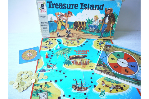 Vintage Treasure Island Board Game Milton Bradley 1956