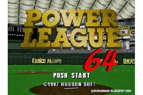 Power League (N64) - Download Game PS1 PSP Roms Isos ...