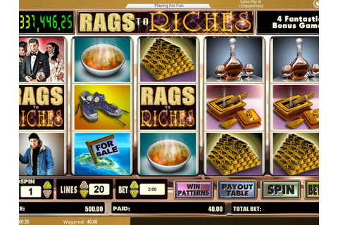 Rags to Riches ™ Slot Machine - Play Free Online Game ...