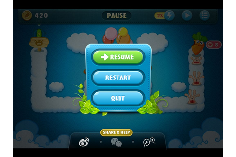 Carrot fantasy ios app ui interface game | Game UI ...
